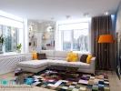 Дизайн гостиной. Вид 1