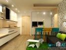 Дизайн кухни, совмещенной с гостиной. Вид 2