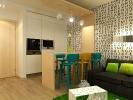 Дизайн кухни совмещенной с гостиной. Вид 4