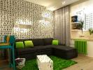 Дизайн гостиной совмещенной с кухней. Вид 5.