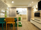 Дизайн гостиной совмещенной с кухней. Вид 6