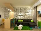 Дизайн гостиной совмещенной с кухней. Вид 7